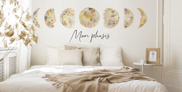 Sticker mit Mondphasen