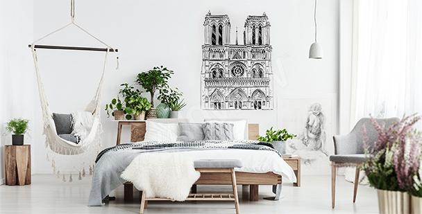 Sticker mit Notre-Dame-Kathedrale
