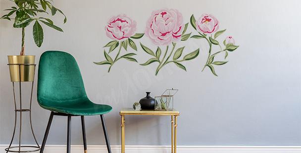 Sticker mit rosa Blumen