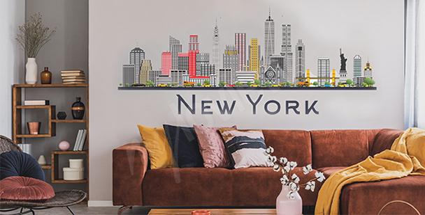 Sticker New York City fürs Wohnzimmer