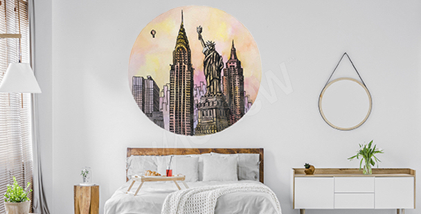 Sticker New York City in Aquarell
