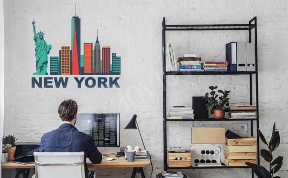 Sticker New York - Wolkenkratzer