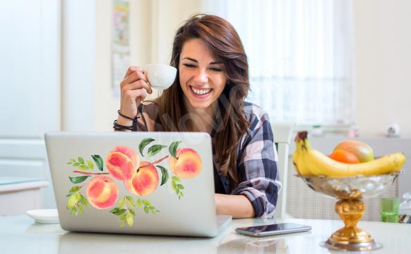 Sticker Obst für den Laptop