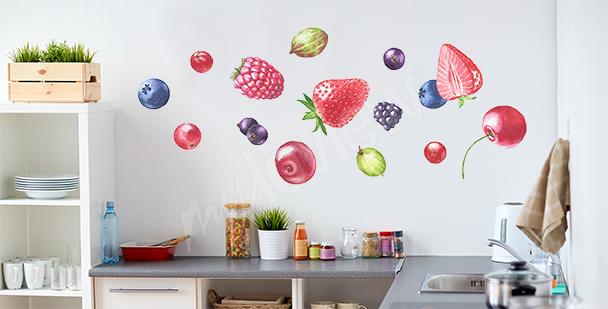 Sticker Obst für die Küche