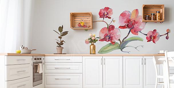 Sticker Orchidee für die Küche