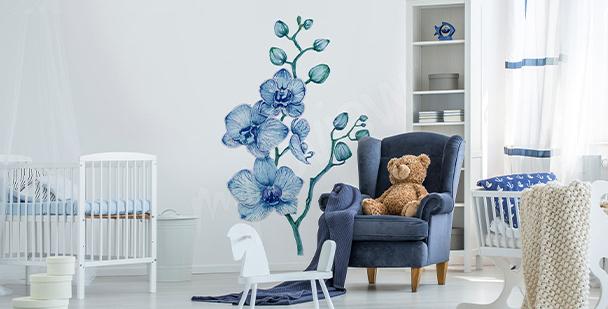 Sticker Orchidee fürs Kinderzimmer