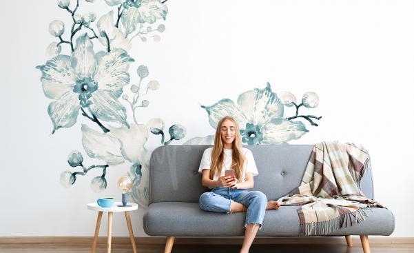 Sticker Orchidee fürs Wohnzimmer