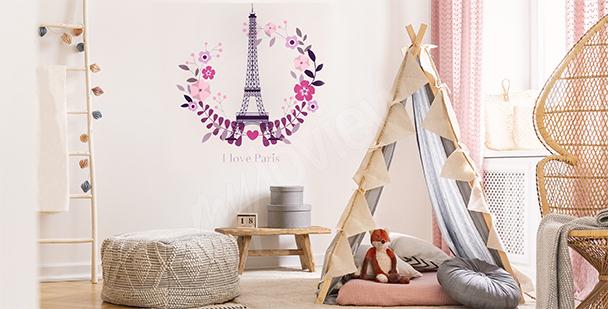 Sticker Paris fürs Kinderzimmer