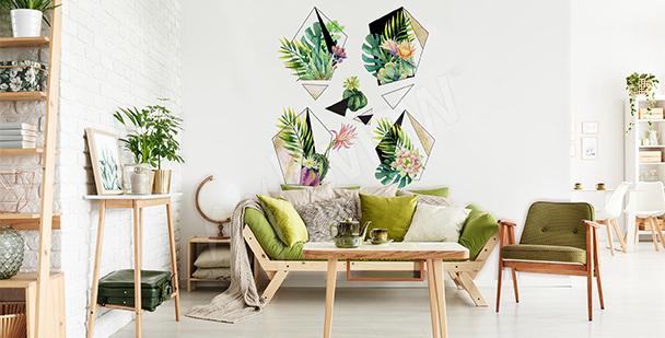 Sticker Pflanzen fürs Öko-Wohnzimmer