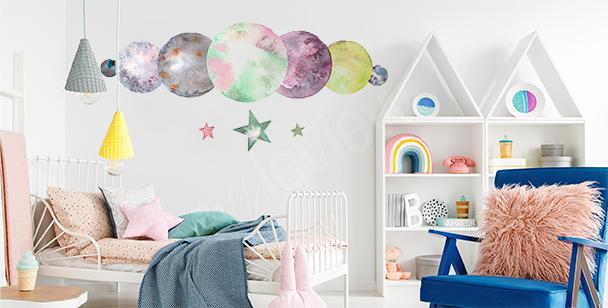 Sticker Planeten fürs Kinderzimmer