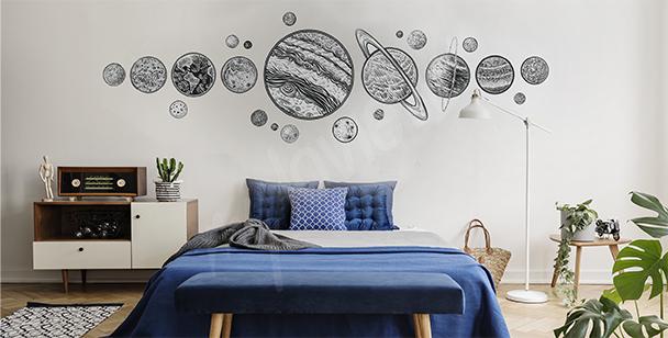 Sticker Planeten fürs Schlafzimmer