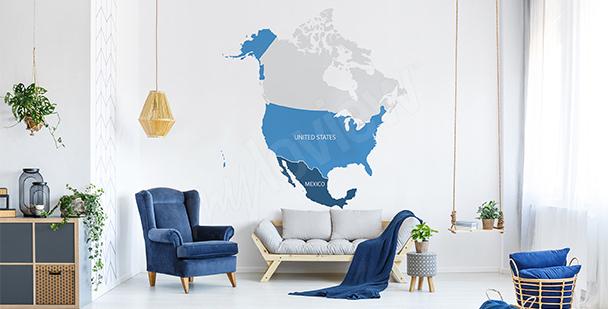 Sticker politische Karte von Amerika