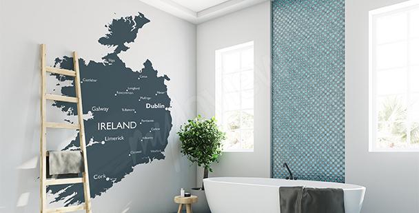 Sticker politische Karte von Irland