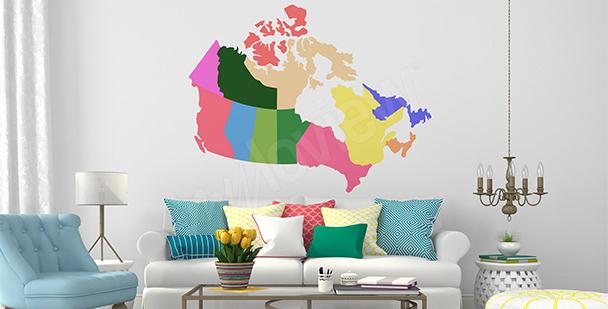 Sticker politische Karte von Kanada