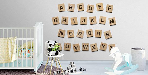 Sticker Quadrate mit Buchstaben
