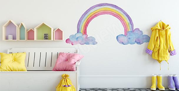 Sticker Regenbogen für ein Mädchen