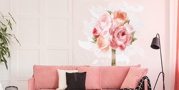 Sticker Rosen fürs Wohnzimmer