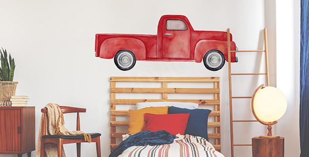 Sticker rotes Auto fürs Schlafzimmer