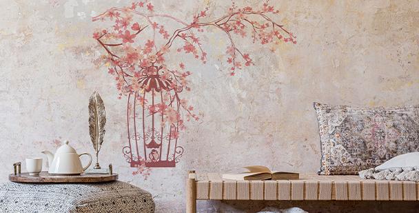 Sticker Sakura im Shabby-Chic-Stil