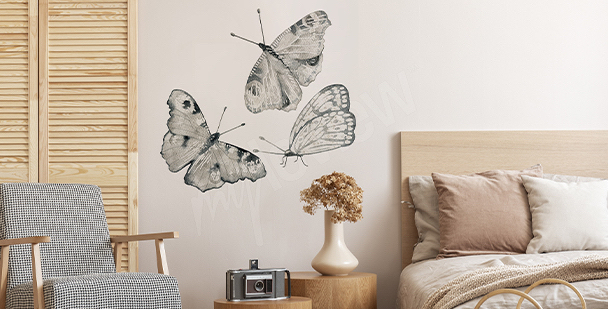 Sticker bunter Schmetterling