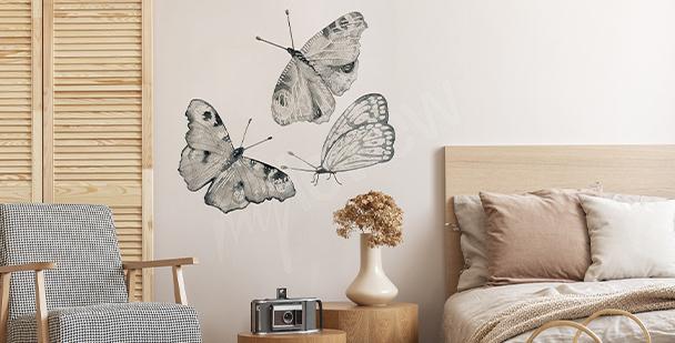 Sticker Schmetterlinge fürs Schlafzimmer