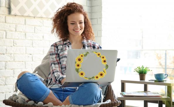 Sticker Sonnenblume für Laptop