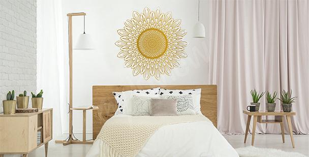 Sticker Sonnenblume fürs Schlafzimmer