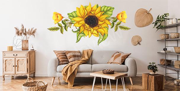 Sticker Sonnenblume fürs Wohnzimmer