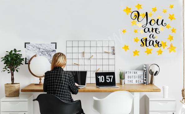 Sticker Sterne mit Aufschrift