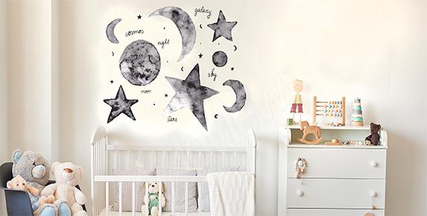 Sticker Sterne und Mond