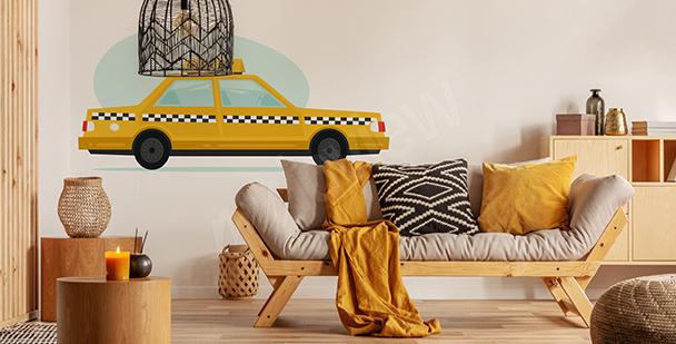 Sticker Transportmittel fürs Wohnzimmer