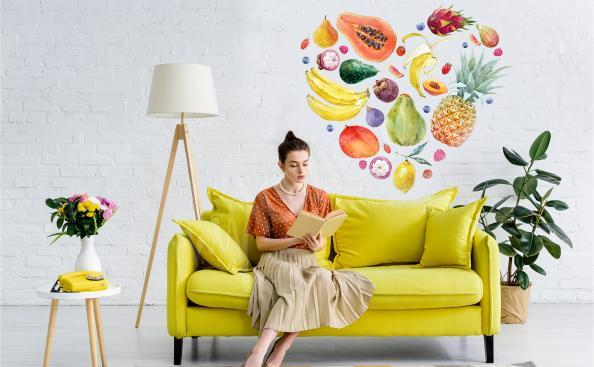 Sticker tropische Früchte