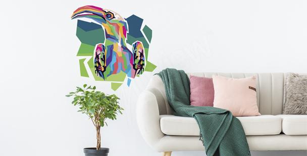 Sticker Tukan im Pop-Art-Stil