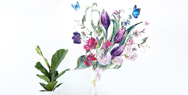 Sticker Tulpen fürs Wohnzimmer