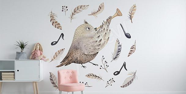 Sticker Vogel für ein Mädchen