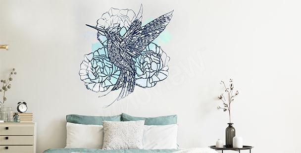 Sticker Vogel fürs Schlafzimmer