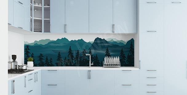 Sticker Wald für die Küche