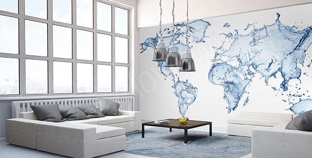 Sticker Wasserweltkarte