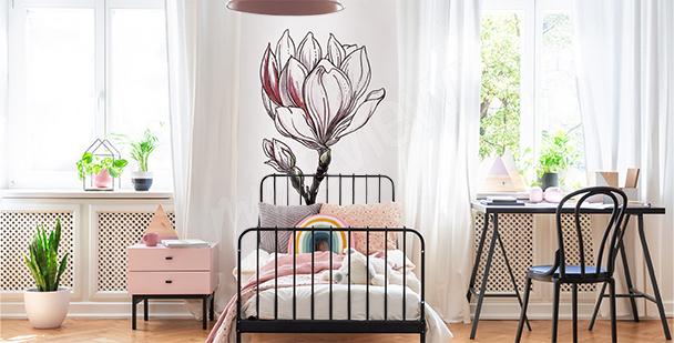 Sticker weiße Magnolie fürs Kinderzimmer