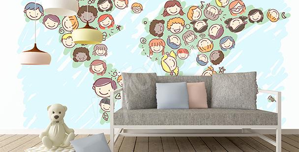 Sticker Weltkarte für Kinder