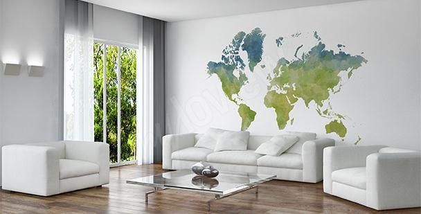 Sticker Weltkarte im Ökostil