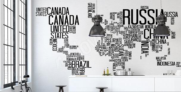 Sticker Weltstaaten
