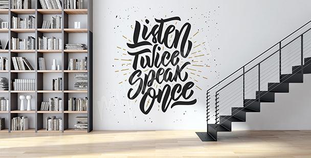 Sticker Zitat für ein modernes Interieur