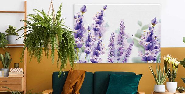 Subtiles Bild im floralen Stil