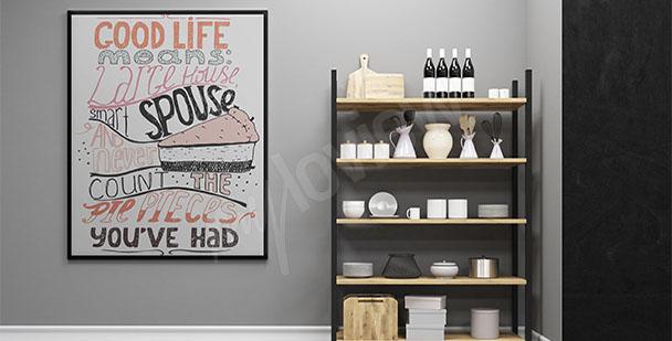 Süβigkeiten Poster für die Küche