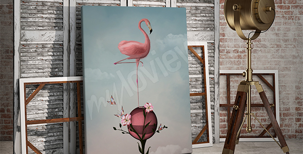 Surrealistisches Bild Flamingo