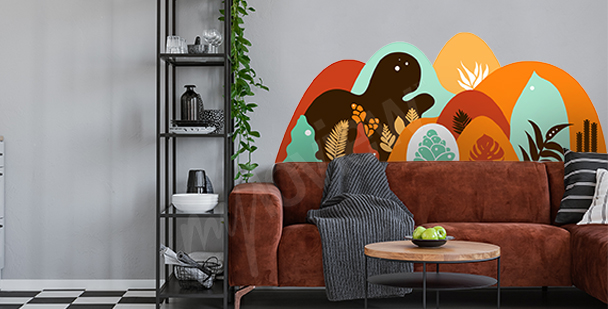 Tropischer Sticker fürs Wohnzimmer