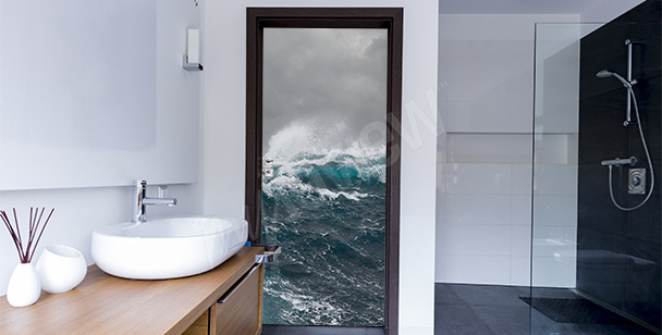 Sticker an die Tür Strand