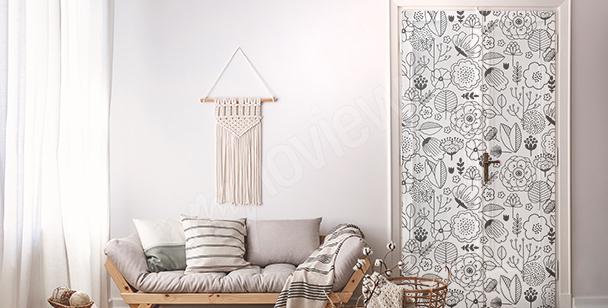 Türsticker mit floralem Motiv