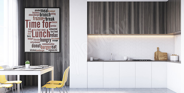 Typo-Poster für die Küche